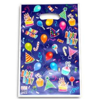 Party Pack - 10pcs per Pack. Fanciful colours Kids Party Gift / Plastic Bag. assorted designs