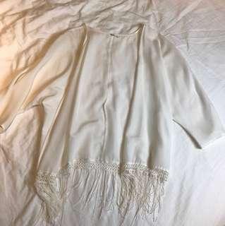 White boho shaul
