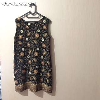 black golden batik dress