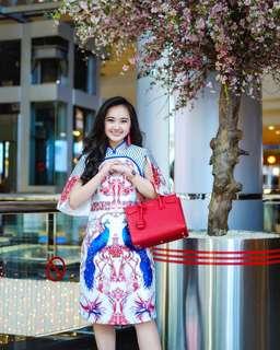 Chinese New Year Qi Bao Imlek Peacock Dress