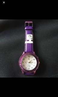 全新Swarovski 深紫色手錶