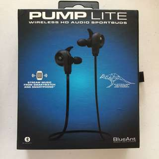 Pump lite wireless HD audio sportbuds