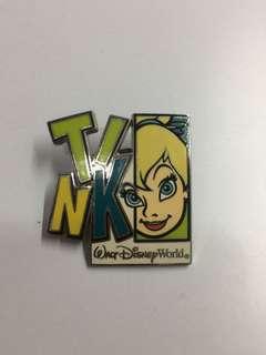 美國迪士尼 Disney Tinkerbell 小叮噹 造形 Pin 徽章 襟章