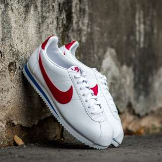 Nike Classic Cortez Leather White Varsity Red Blue