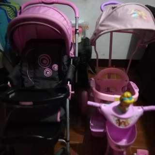 Minnie stroller & disney princess stroller bike