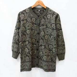 C5 Batik Knit Tebal Cardigan Outwear Outer Luaran