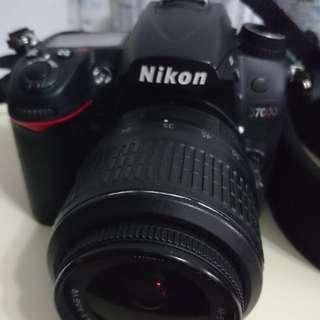 Nikon D7000+lens 18-55mm