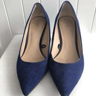 Zara Heels Blue 8 cm