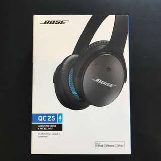 Brand new Bose Noise cancelling QC25. (Sealed)