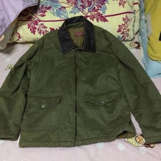 復古 Sisley Brand 真皮 外套 Benetton Jacket 100% Cotton Made in Italy 意大利造
