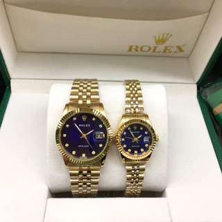 Classic luxury Rolex gold couple set watches