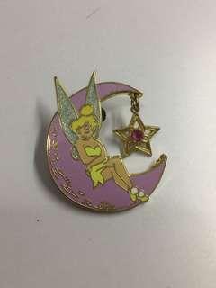 美國迪士尼 Disney Tinkerbell 小叮噹 月亮 星星 吊飾 Pin 徽章 襟章