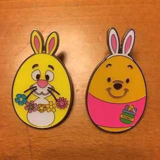 迪士尼徽章花蛋pooh rabbit Disney pin