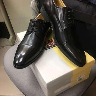 阿瘦全真皮綁帶紳士皮鞋