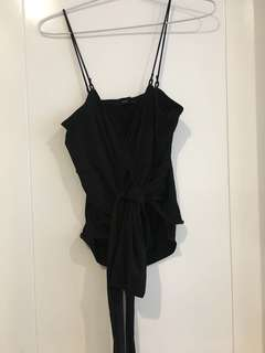 Guess black tie top