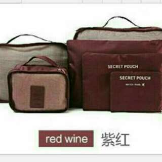 6in1 luggage organizer wine red
