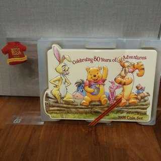 BRAND NEW! Limited Edition 2006 Japan Mint Winnie the Pooh and Friends Celebrating 80 Years of Adventure Coin Set