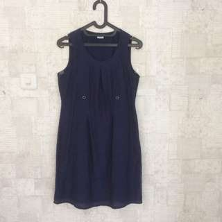 Dress blue silky