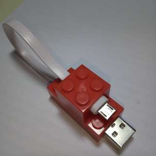 Lego microUSB data cable