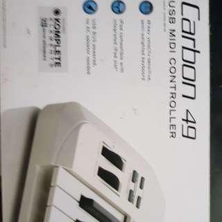 Keyboard MIDI samson 49