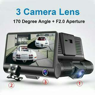 4.5-inch 3-Camera Lens Vehicle Dashcam - T636