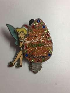 美國迪士尼 Disney Tinkerbell 小叮噹 聖誕 寶石 立體 3D 限量 LR Pin 徽章 襟章