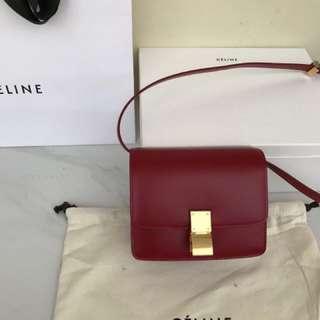 Tas wanita celine warna merah
