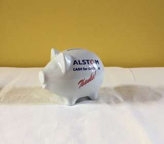 Alstom Porcelain Coin Bank