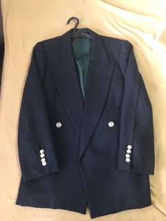 Dark Blue Double Breasted Suit