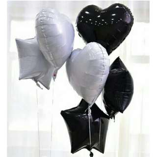 Black & white heart balloon