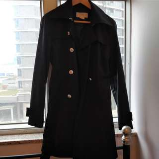 Michael Kors Womens Black Raincoat