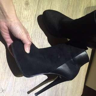 質感好 細跟短靴