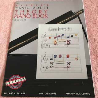 Alfred's Basic Adult Piano Course Theory, Bk 1 (Alfred's Basic Piano Library)