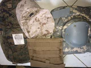 medical bag with army cap