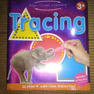 BRANDNEW 26 Pages Reusable Wipe-Clean Tracing Book