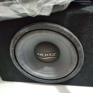 "10"" hertz woofer with box"
