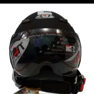 Helmet bogo retro jpn momo black matte