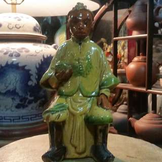 Antique China Ceramic Shi Wan Porcelain Monkey King.清朝光绪年间(1875~1908)石湾陶瓷齐天大圣。