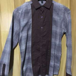 Chemistry Brown Checkered Longsleeves
