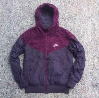 Nike Reversible Fleece Windrunner Jacket - Jaket Lari PURPLE