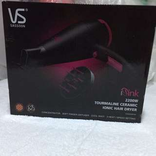❗️REPRICED❗️Vidal Sassoon Pink Tourmaline Ceramic Ionic Hair Dryer