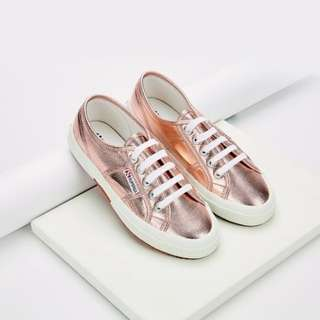 CLOSING SALE --- Original SUPERGA People's Shoes of Italy Rose Gold