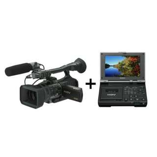 kredit Tanpa Kartu kredit Sony HVR-V1P HDV Cinema Style Camcorder + GV HD700E (USED) 95%