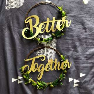 Wedding - Chair Deco 'Better Together'