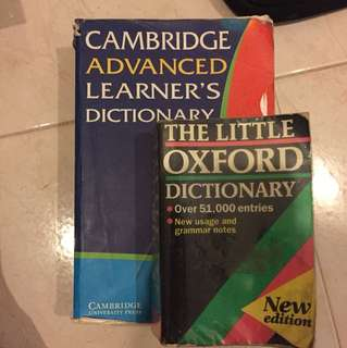Oxford Dictionary & Cambridge advances learner's dictionary