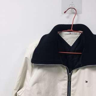 🚚 Tommy Hilfiger 古著 米白 高領 復古 鋪棉 外套