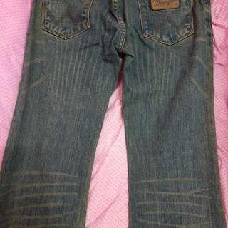 🚚 Wrangler 時尚藍哥深調藍色牛仔褲
