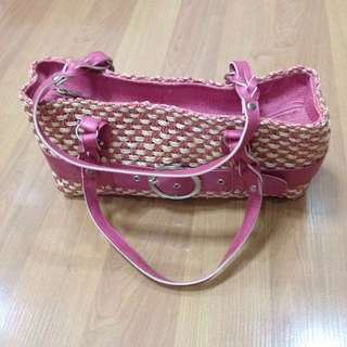 New:Handmade pink shoulder bag