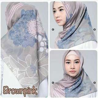 Kami Idea Jemima Scarf-Brown Pink
