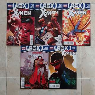 Uncanny X-Men Vol 2 (Marvel Comics 5 Issues; #11 to 15, AVX storyline tie-in)
